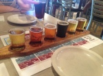 Sampler of beers at Carolina Brewery